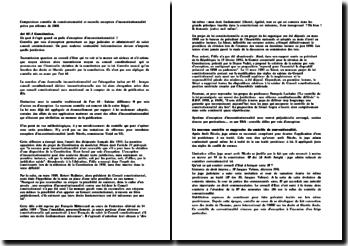 Comparaison contrôle de constitutionnalité et nouvelle exception d'inconstitutionnalité prévu par réforme de 2008