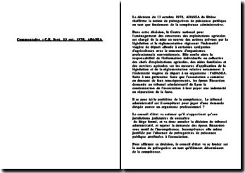 Conseil d'Etat, 13 octobre 1978, ADASEA