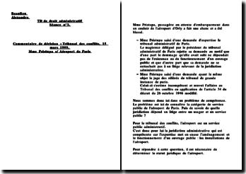 Tribunal des conflits, 15 mars 1999, Mme Pristupa c/ Aéroport de Paris