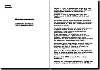 Conseil d'Etat, 13 septembre 2005, Collectif contre l'handiphobie