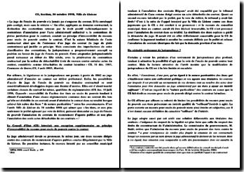Conseil d'Etat, 30 octobre 1998, Ville de Lisieux