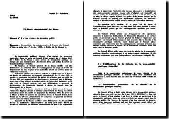 Conseil d'Etat, 1er février 1995, Préfet de la Meuse