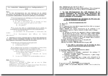 Les Autorités Administratives Indépendantes - AAI