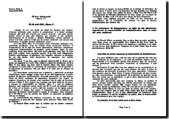 Conseil d'Etat, 10 avril 1992, Époux V