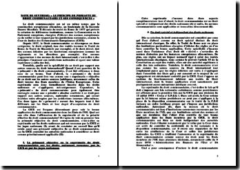 La primauté du droit communautaire et ses conséquences ur le droit interne français et le juge administratif