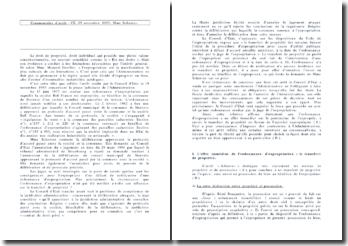 Conseil d'Etat, Commentaire d'arrêt : CE, 19 novembre 1993, Madame Scherrer