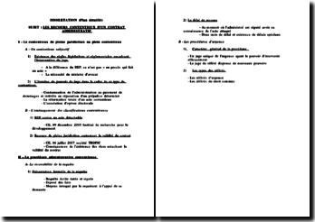 Les recours contentieux d'un contrat administratif