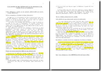 Le contrôle du juge administratif sur les ordonnances de l'article 38 de la Constitution