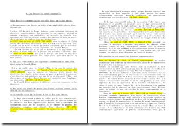 Les directives communautaires en droit administratif