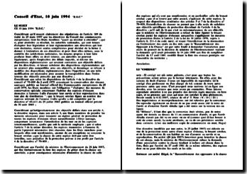 Conseil d'Etat, 10 juin 1994, 'R.O.C.'