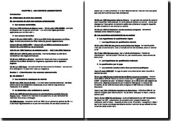 Fiche de jurisprudence sur les contrats administratifs