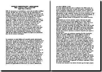L'applicabilité en droit des contrats administratifs
