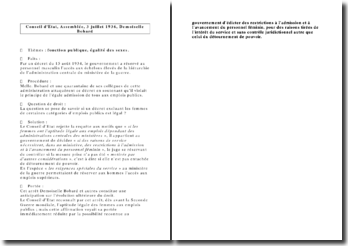 Conseil d'Etat, Assemblée, 3 juillet 1936, Demoiselle Bobard