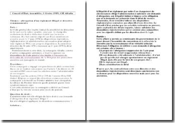 Conseil d'Etat, Assemblée, 3 février 1989, CIE Alitalia
