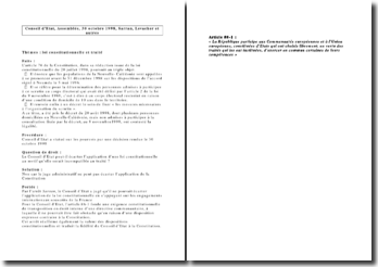 Conseil d'Etat, Assemblée, 30 octobre 1998, Sarran, Levacher et autres