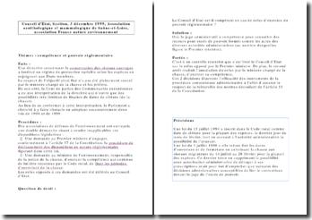 Conseil d'Etat, Section, 3 décembre 1999, Association ornithologique et mammalogique de Saône-et-Loire