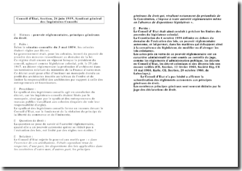 Conseil d'Etat, Section, 26 juin 1959, Syndicat général des Ingénieurs-Conseils