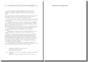 Conseil d'Etat de Section, du 13 mai 1994, ville de DREUX