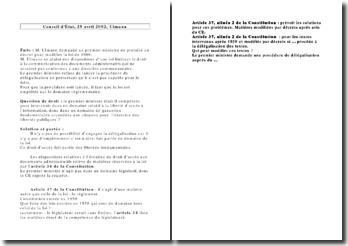 Conseil d'Etat, 29 avril 2002, Ulmann