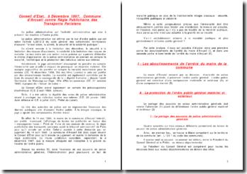 Conseil d'Etat, 8 Décembre 1997, Commune d'Arcueil contre Régie Publicitaire des Transports Parisiens