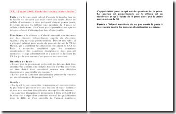 Conseil d'Etat, 12 mars 2003, Garde des sceaux contre Frérot