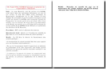 Conseil d'Etat, 5 mai 1976, SAFER d'Auvergne et ministre de l'agriculture c/ Bernette