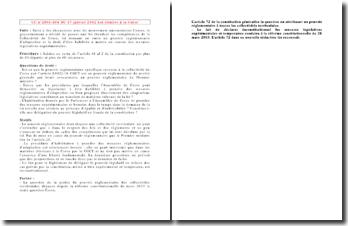 CC n 2001-454 DC 17 janvier 2002 Loi relative à la Corse