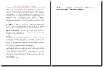 Conseil d'Etat, 22 octobre 2004, Lamblin