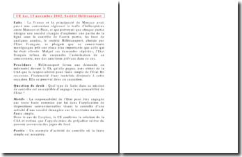Conseil d'Etat, 13 novembre 2002, Société Hélitransport