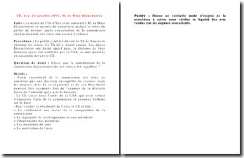 Conseil d'Etat, 26 octobre 2001, M. et Mme Eienchteter
