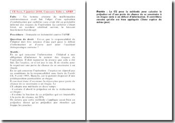 Conseil d'Etat, 5 janvier 2000, Consorts Telle c. APHP