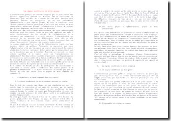 Les clauses exorbitantes du droit commun