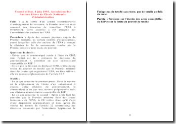 Conseil d'Etat, 4 juin 1993, Association des Anciens Elèves de l'Ecole Nationale d'Administration