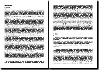Deux cas pratiques: contrat et police administrative