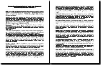 Conseil Consti, 10 juin 2004, Loi pour la confiance dans l'économie numérique