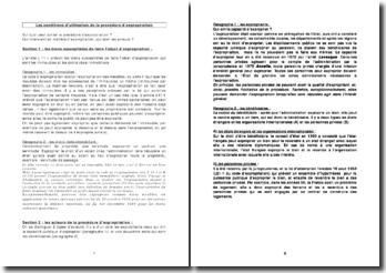 Les conditions d'utilisation de la procédure d'expropriation