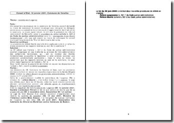 Conseil d'Etat, 18 janvier 2001, Commune de Venelles