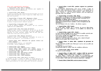 Liste de jurisprudence administrative relative aux actes administratifs unilatéraux