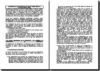 La distinction entre Délégation de Service Public (DSP) et Marchés Publics (MP)