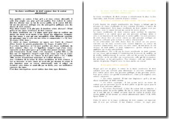 La clause exorbitante du droit commun dans le contrat administratif