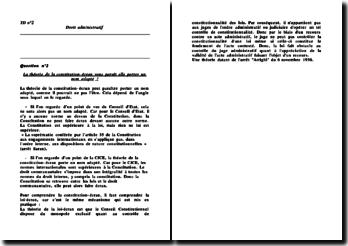 La théorie de la constitution-écran vous paraît elle porter un nom adapté ?