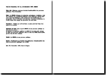 Cassation 1ère Civ. 21 décembre 1987, BRGM