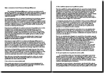 Conseil d'Etat, 21 mars 2007, Commune de Boulogne-Billancourt