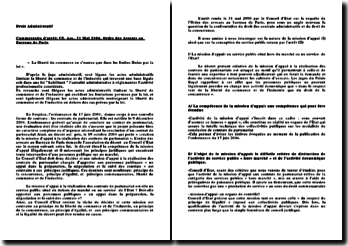 Conseil d'Etat, 31 Mai 2006, Ordre des Avocats au Barreau de Paris