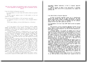 Note administrative niveau L3 droit portant sur la loi DALO