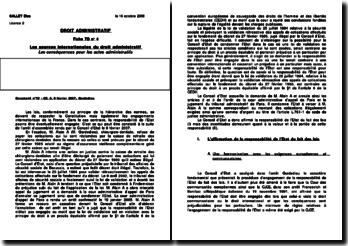 Conseil d'État, 8 février 2007, Gardedieu (autre version)