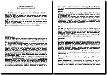TD sur l'acte administratif unilatéral