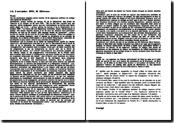 Conseil d'Etat, 2 novembre 1992, M. Khérouaa