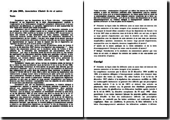 Conseil d'Etat, 30 juin 2000, Association Choisir la vie et autres