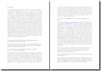 Le juge administratif et le Droit Communautaire - primauté de la communauté européenne sur l'ordre interne